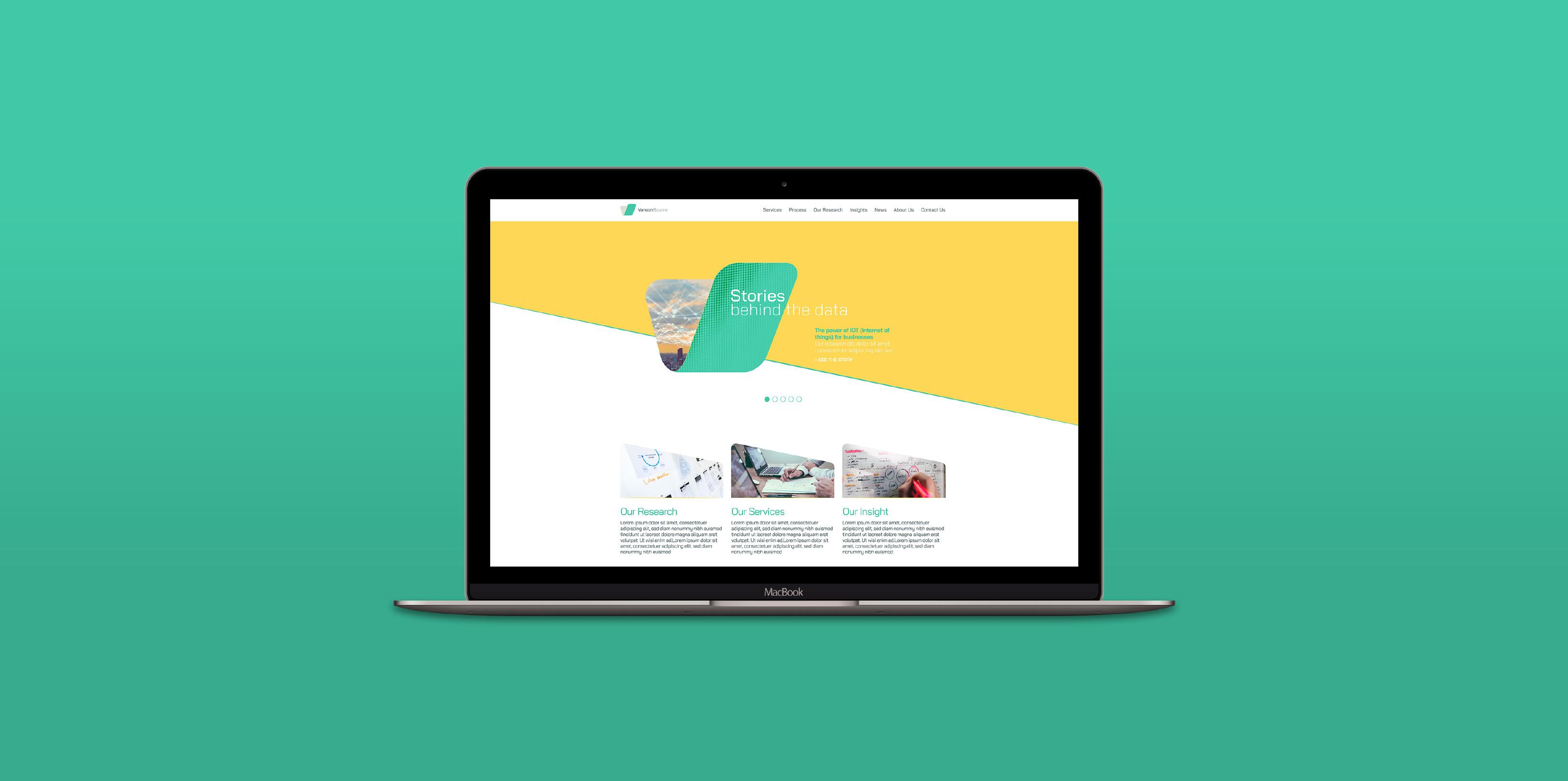 Vanson Bourne Website Design on Mac