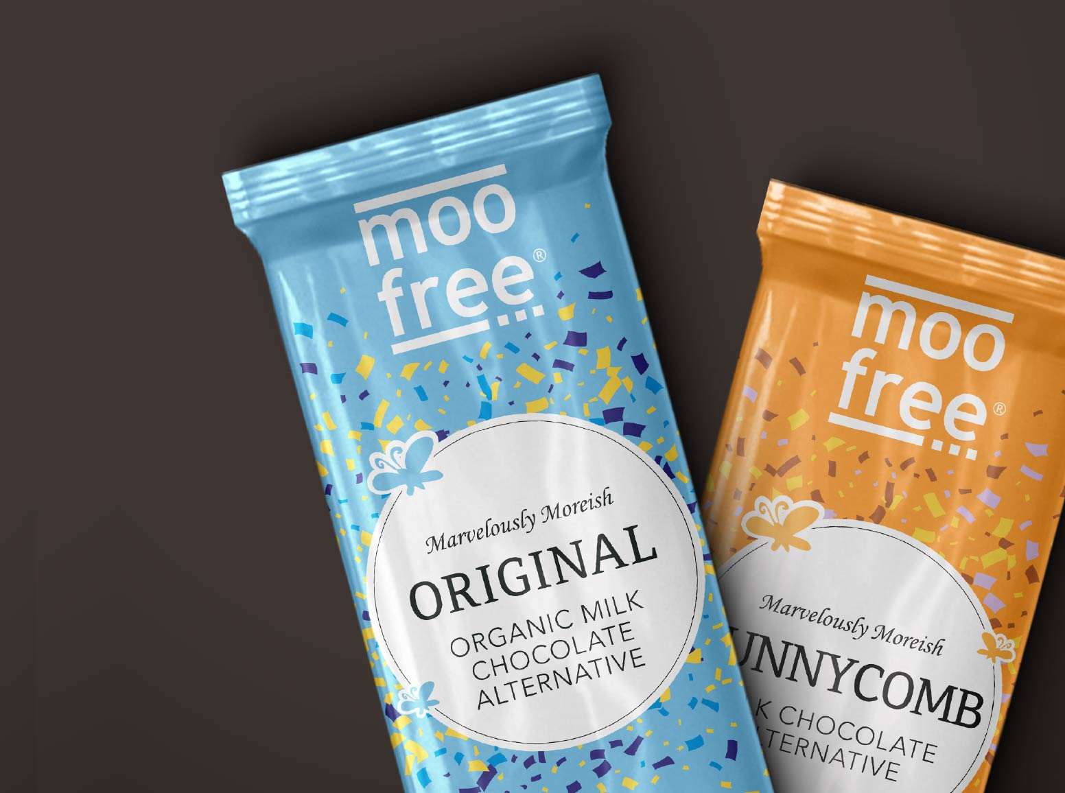 Moo Free Chocolate packaging design