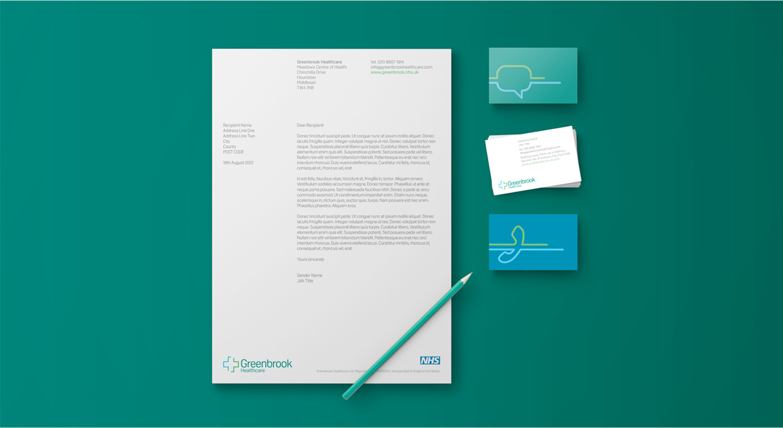 GreenBrook Healthcare Stationery