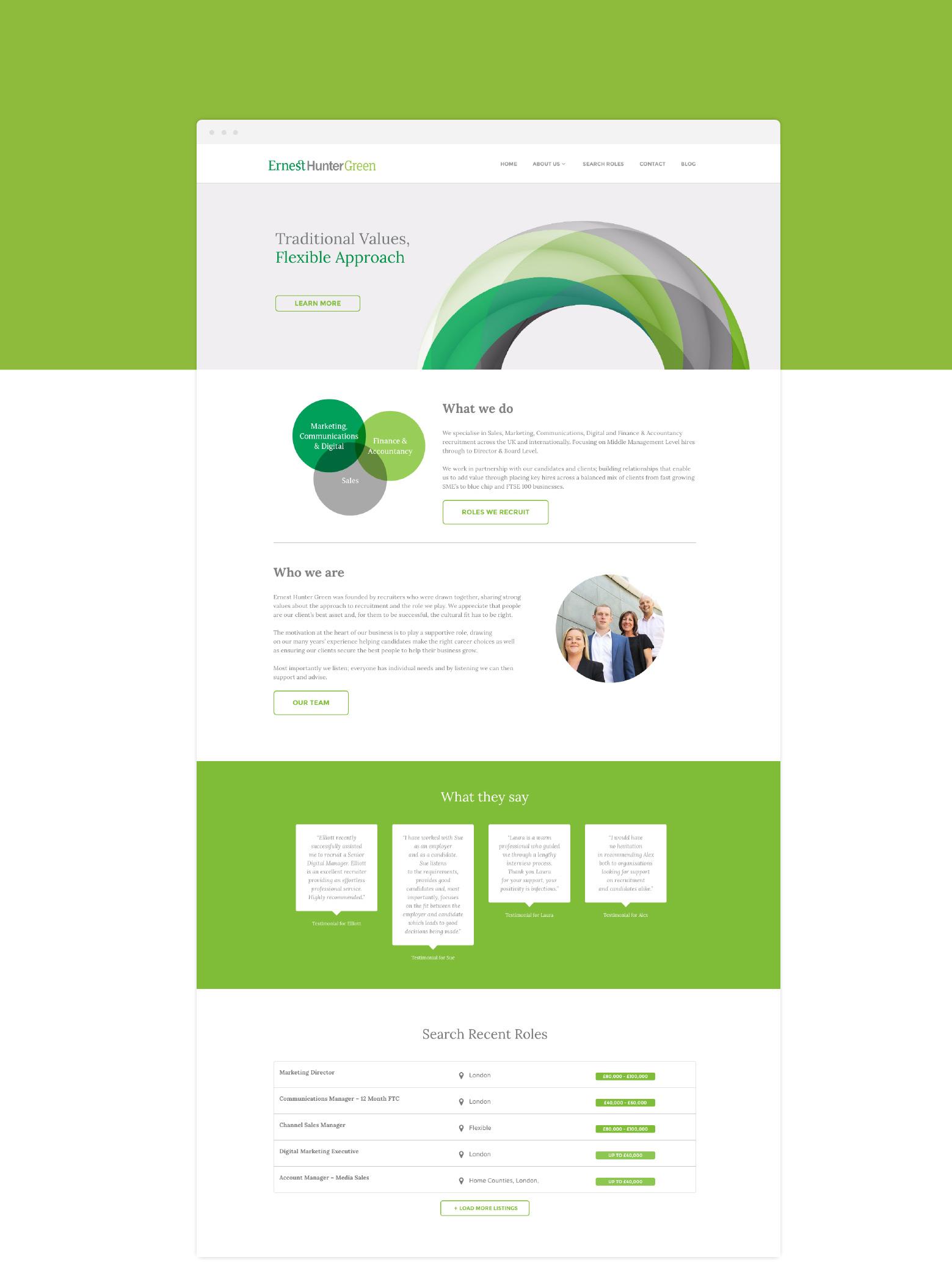 Ernest Hunter Green Webpage