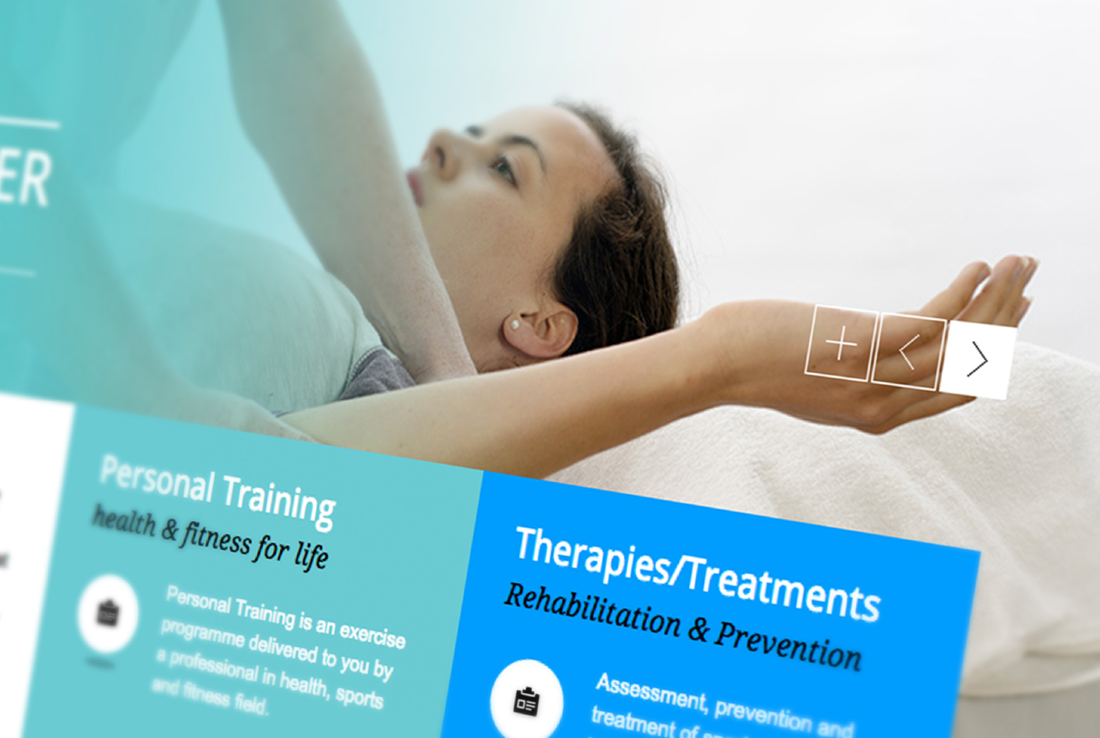 Ocean Sports Therapy Website design