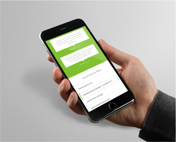 Ernest Hunter Green Website on Mobile
