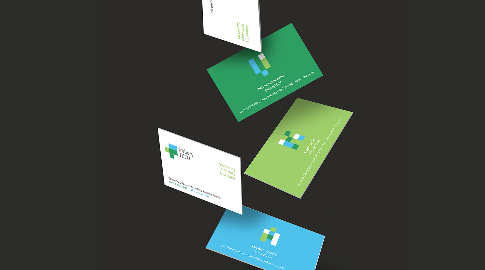 Forbury TECH business card