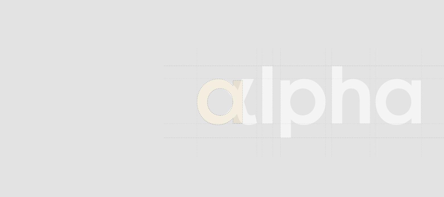 alpha logo grid
