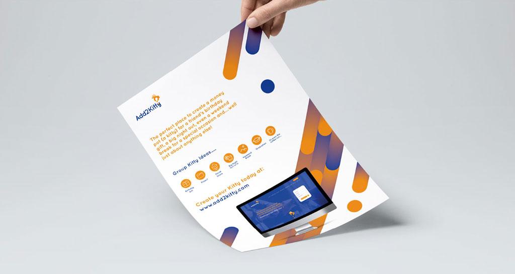 Add2Kitty flyer design