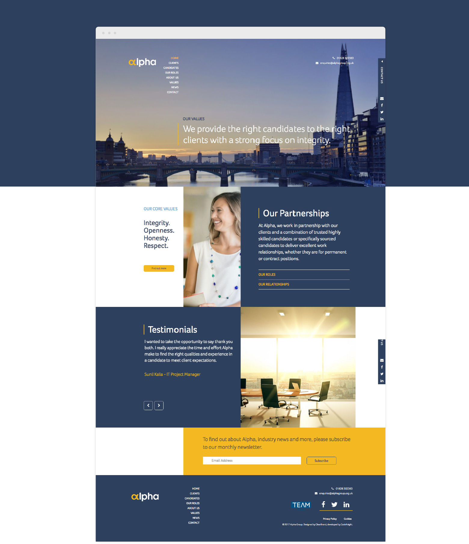 Alpha Webpage