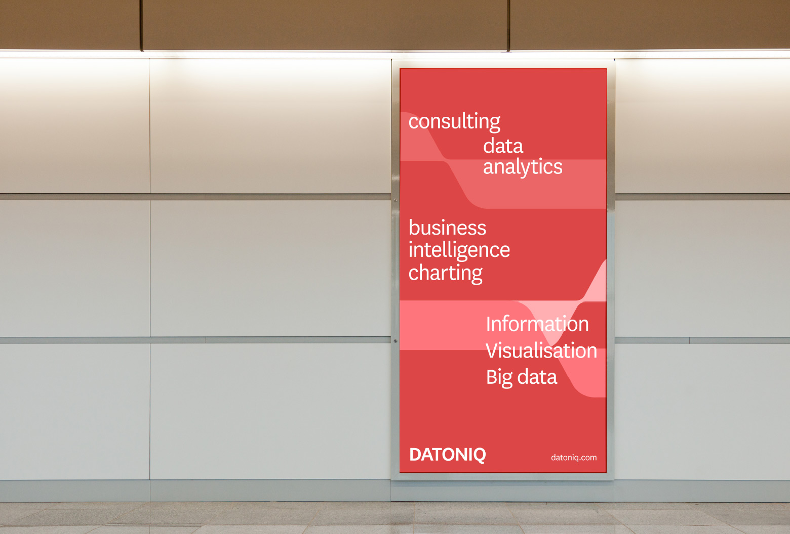 Datoniq Poster on Wall