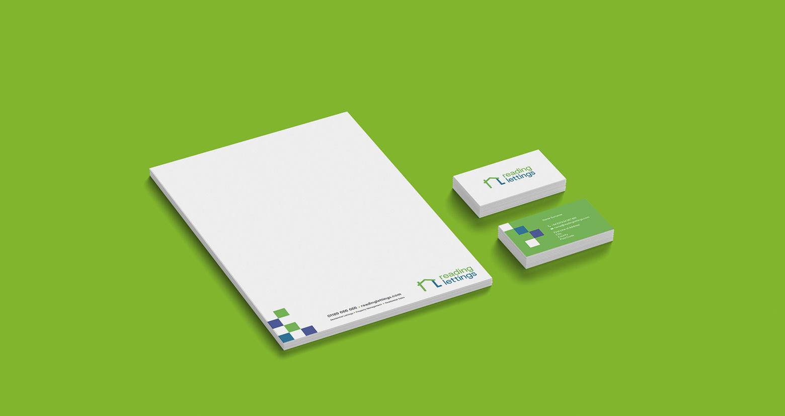 Reading Lettings Stationery design