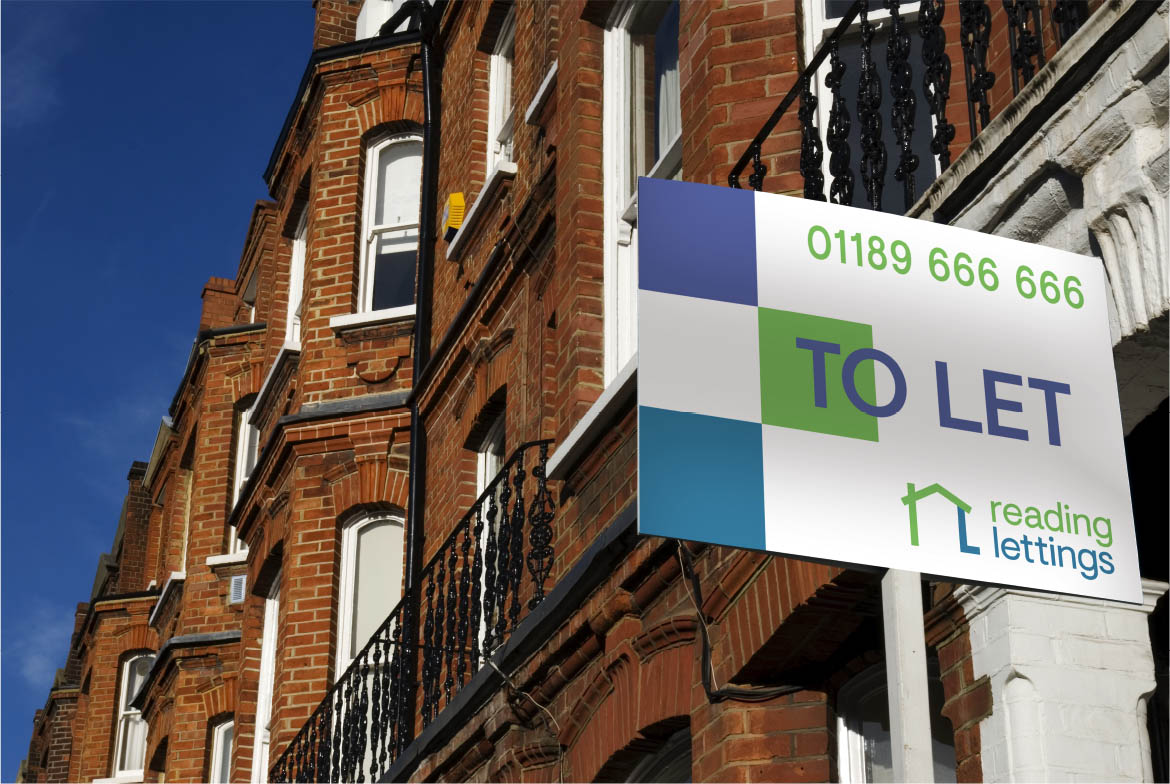 Reading Lettings To Let Sign on Building