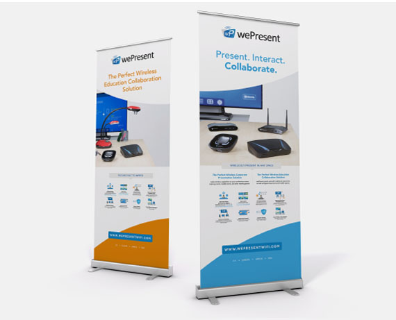 wePresent roll-out banner