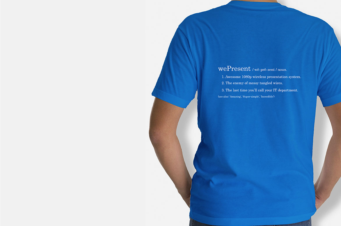 wePresent t-shirt design