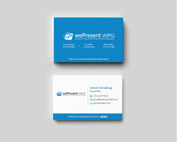 wePresent Business Cards