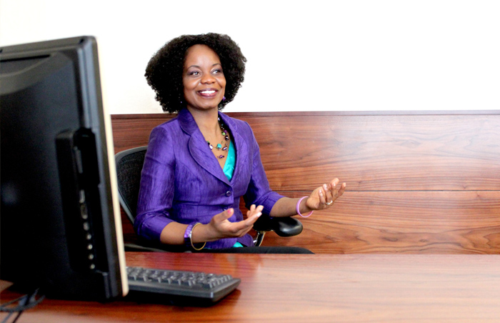 Lady at desk