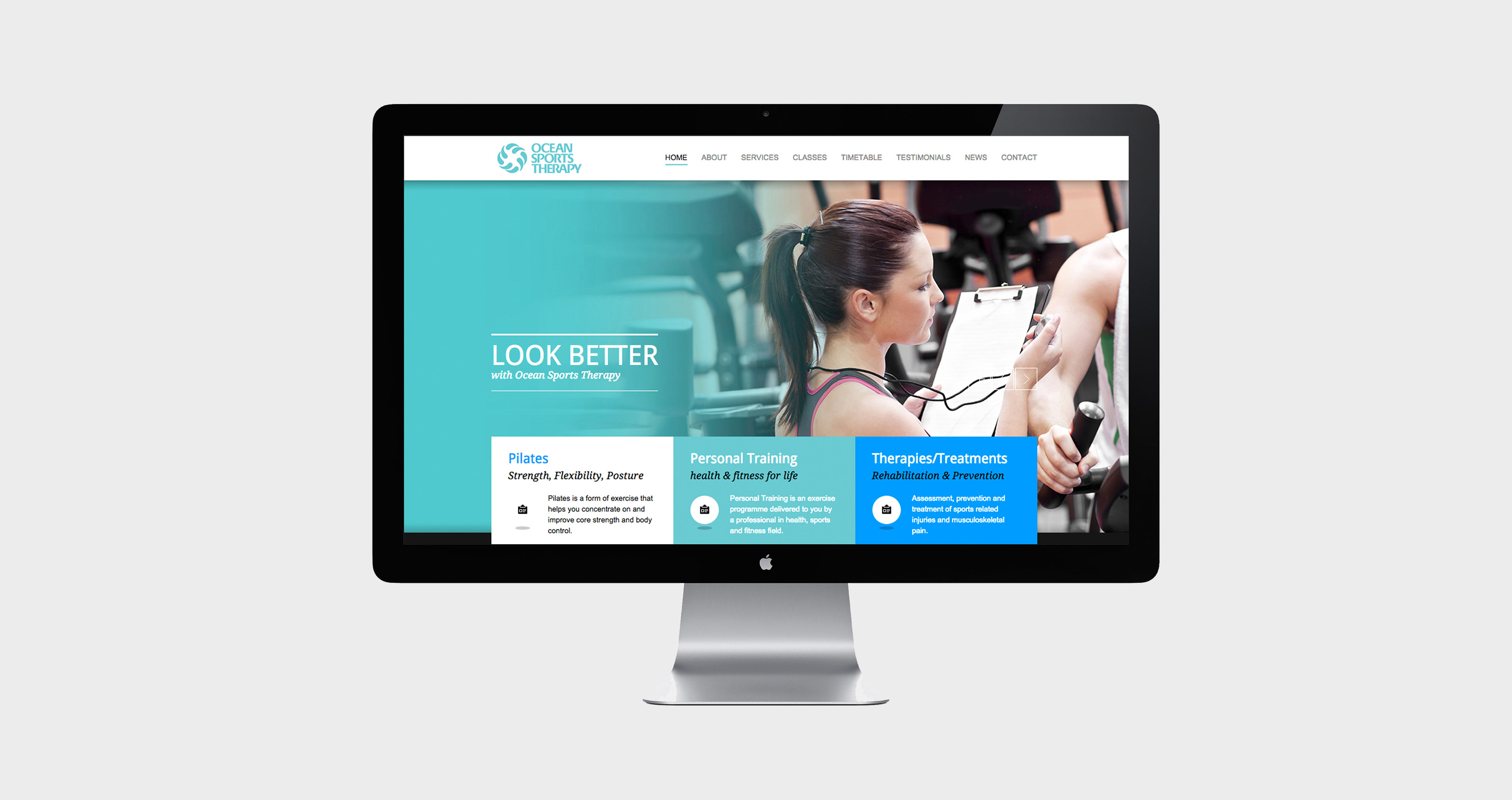 Ocean Sports Therapy Healthcare Marketing Website