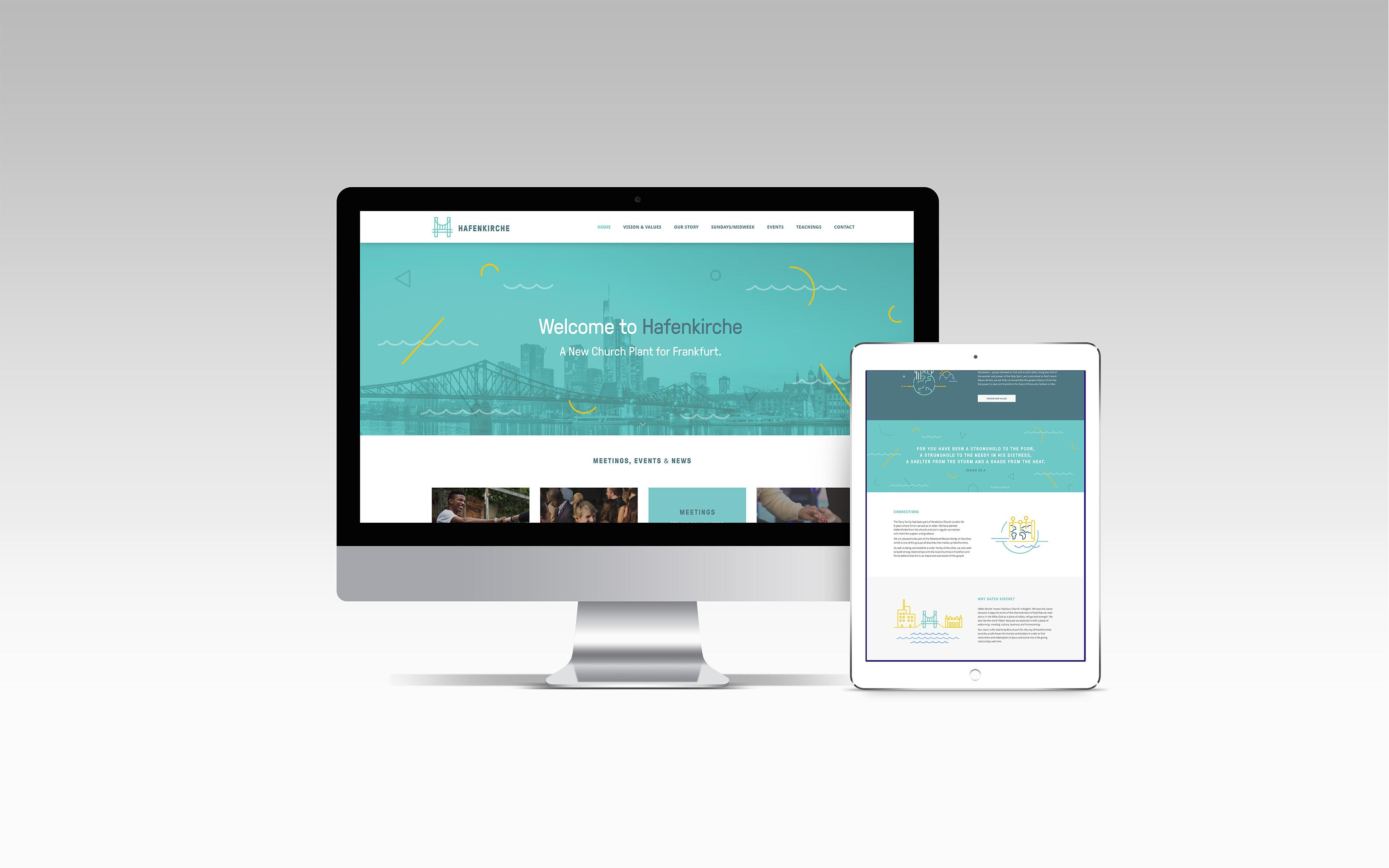 Hafen Kirche website on Mac and Ipad