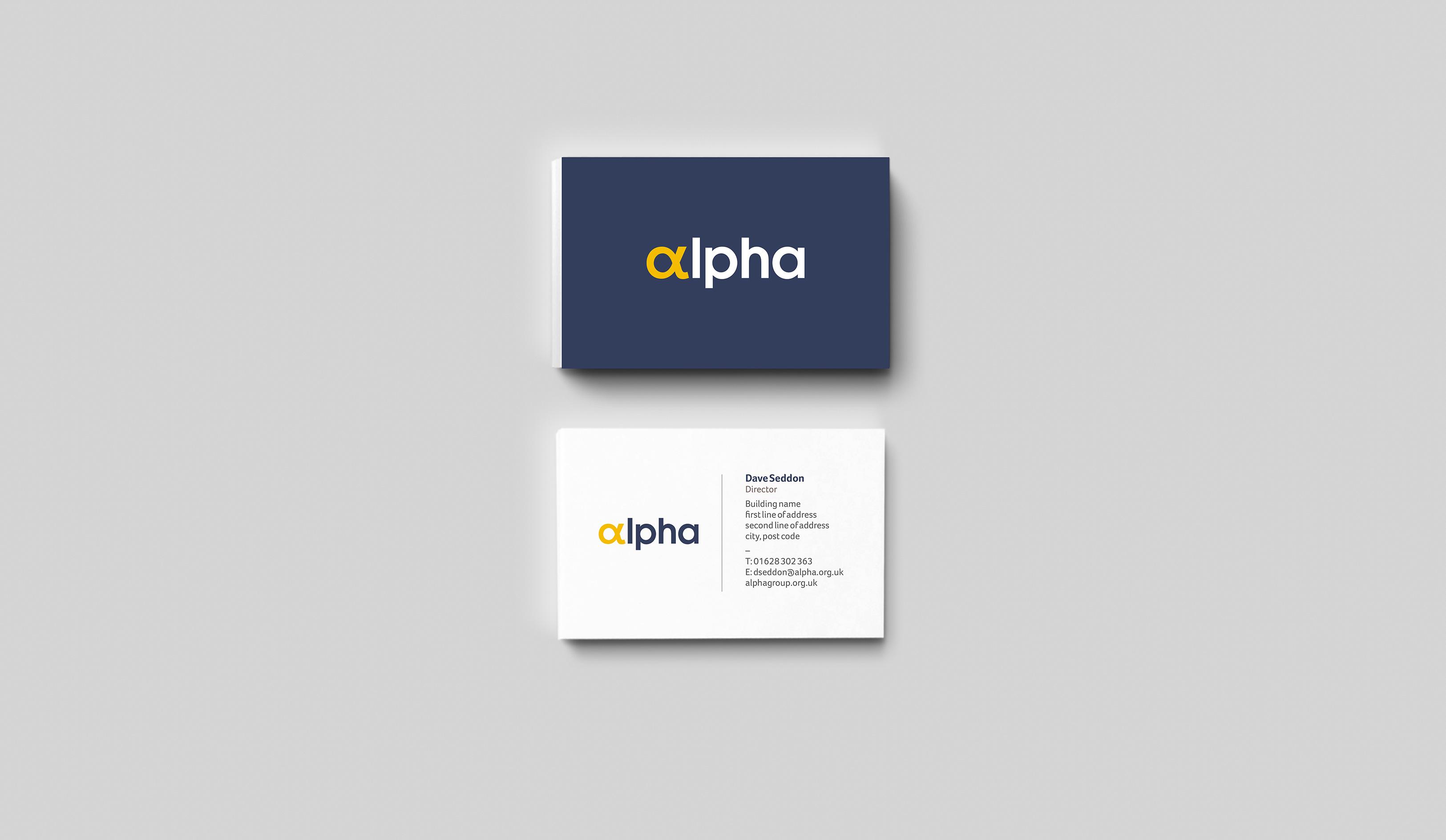 Alpha Business Card