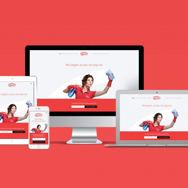 Daily Poppins Website on four devices mac, laptop, tablet, phone