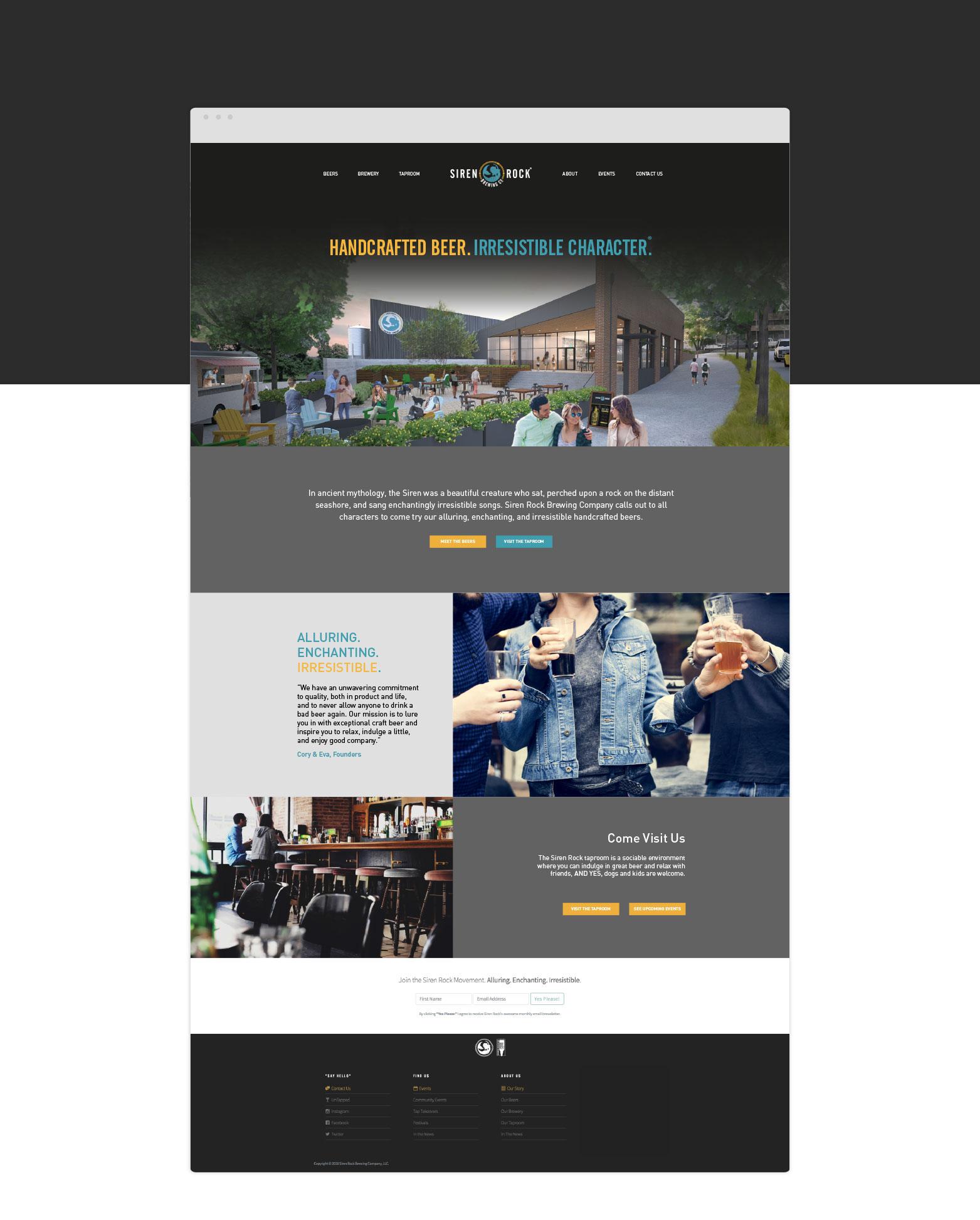 Siren Rook Webpage design