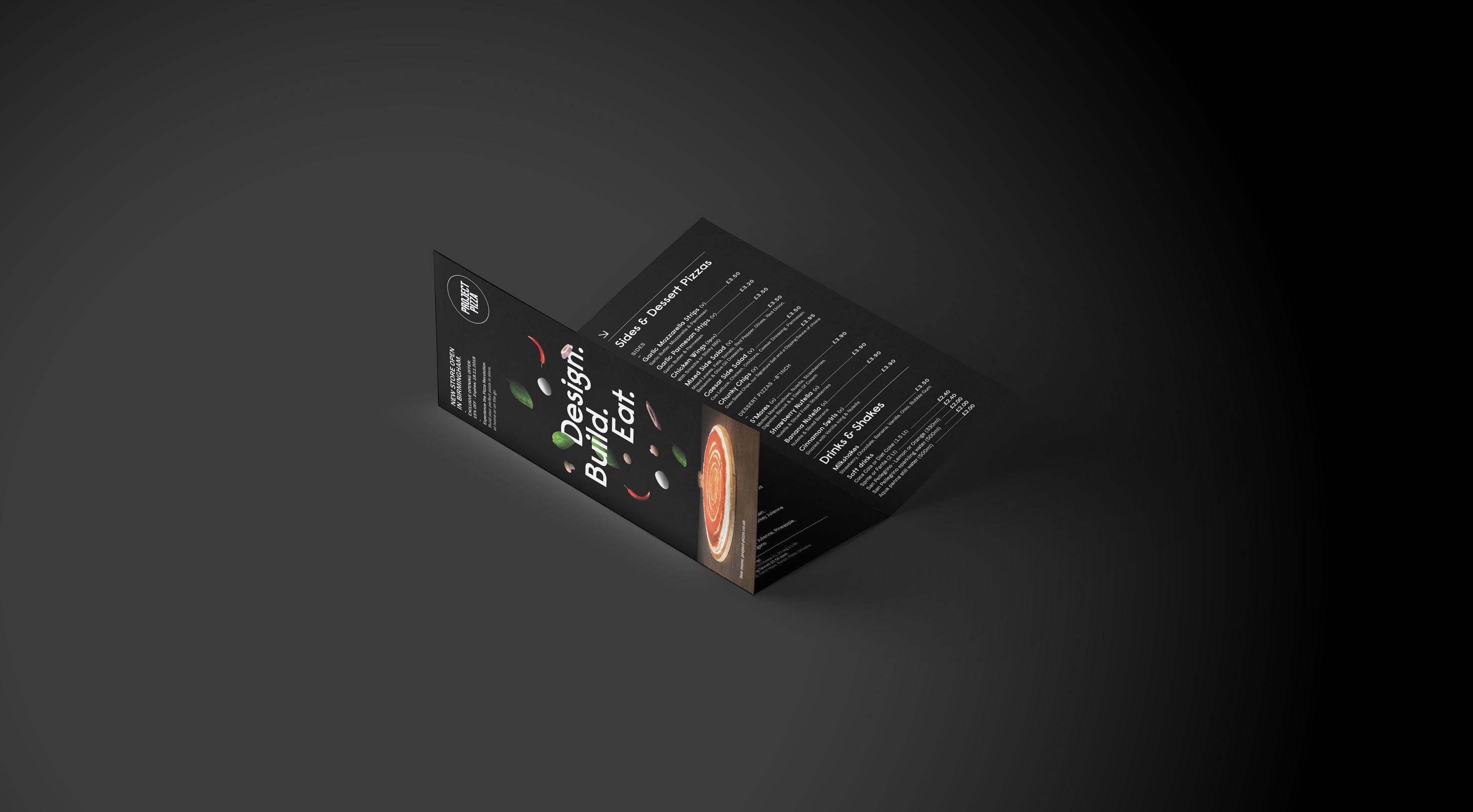 Project Pizza Menu Design