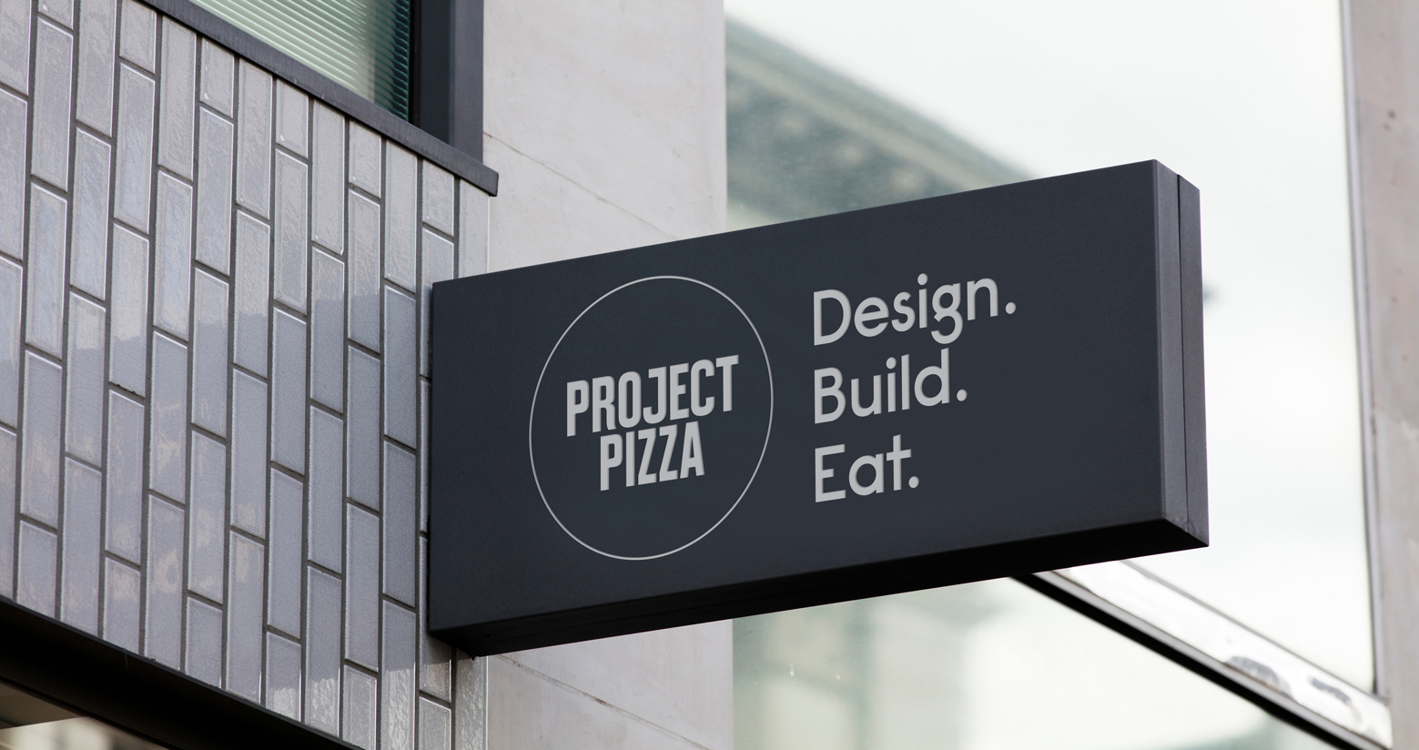 Project Pizza sign design