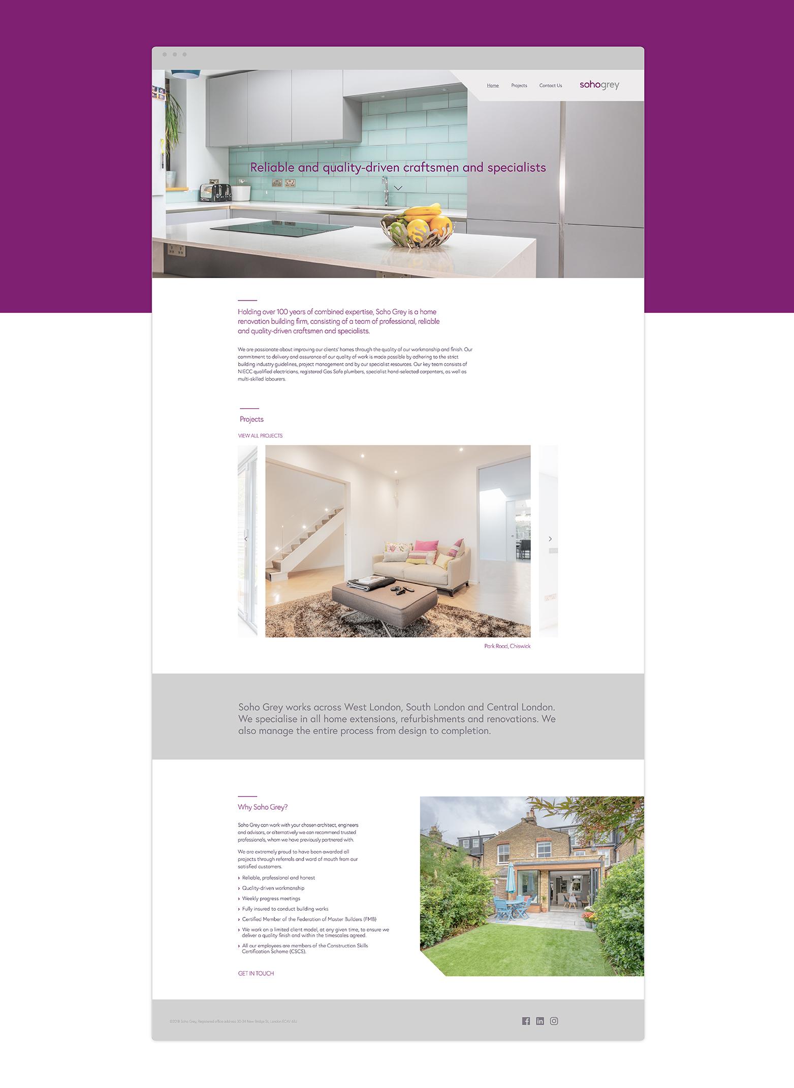 Soho Grey Website Design