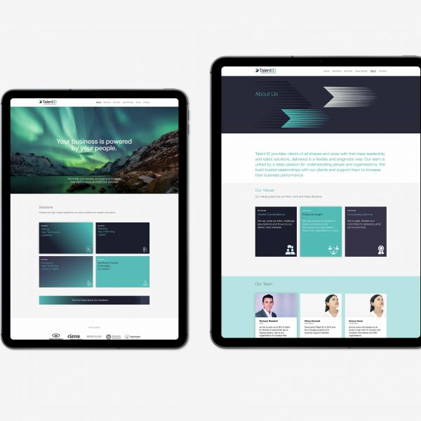 TalentID Website on Ipad