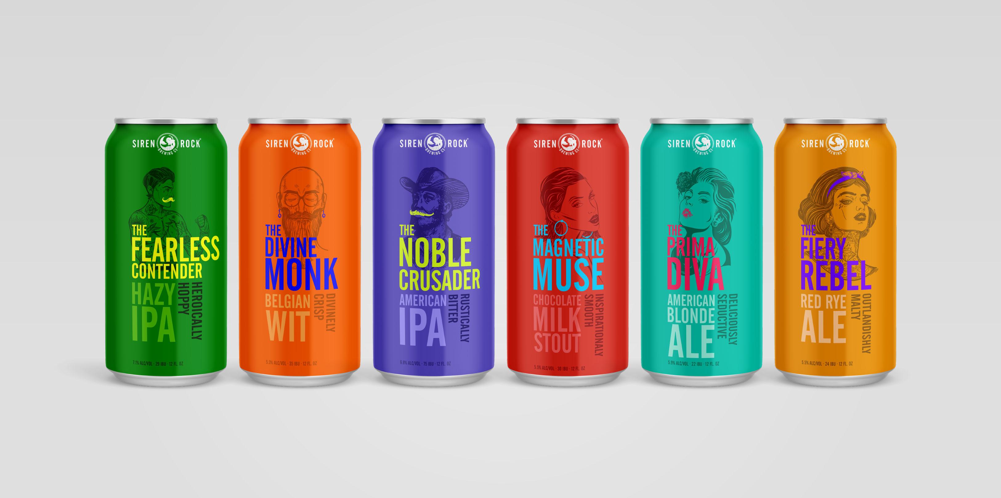 Siren Rock Package Design 6 beers