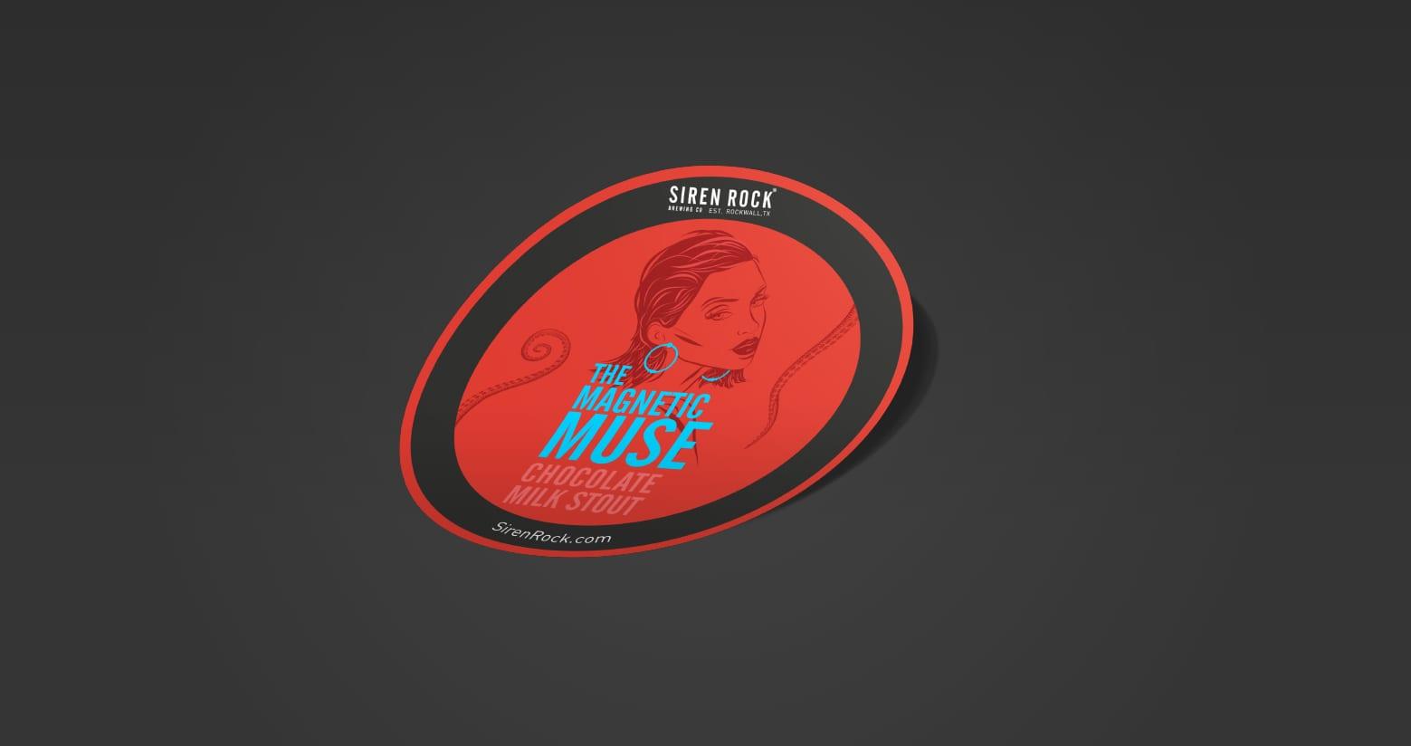Siren Rock sticker Design