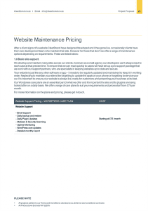 ClearBrand Website Pricing