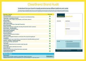 ClearBrand Brand Audit