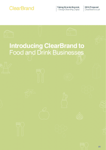 ClearBrand Food and Drink Proposal