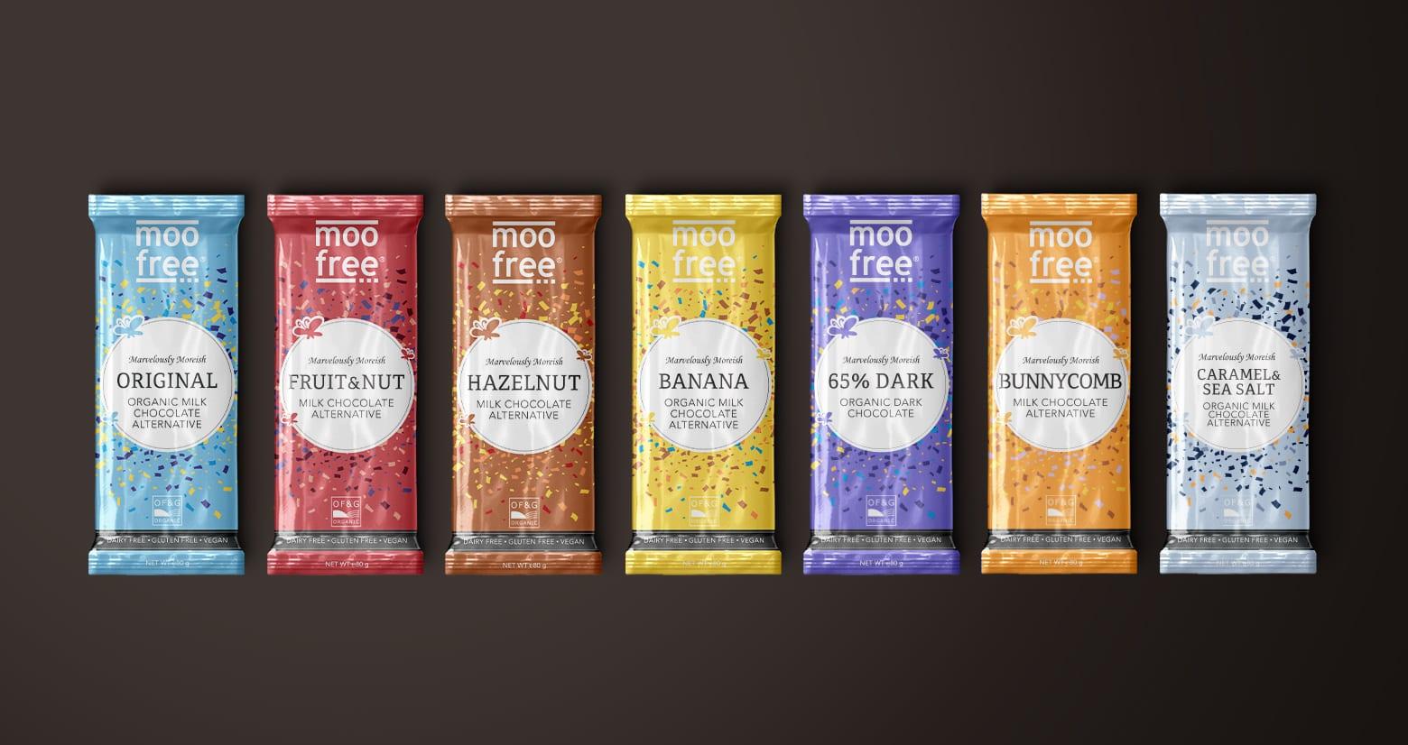 Moo Free Packaging Design chocolate bar