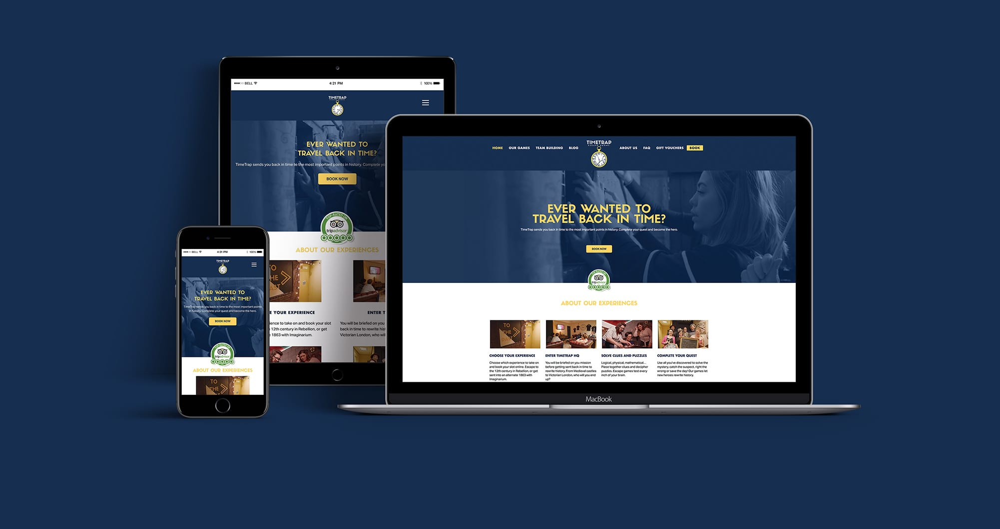 TimeTrap Website design