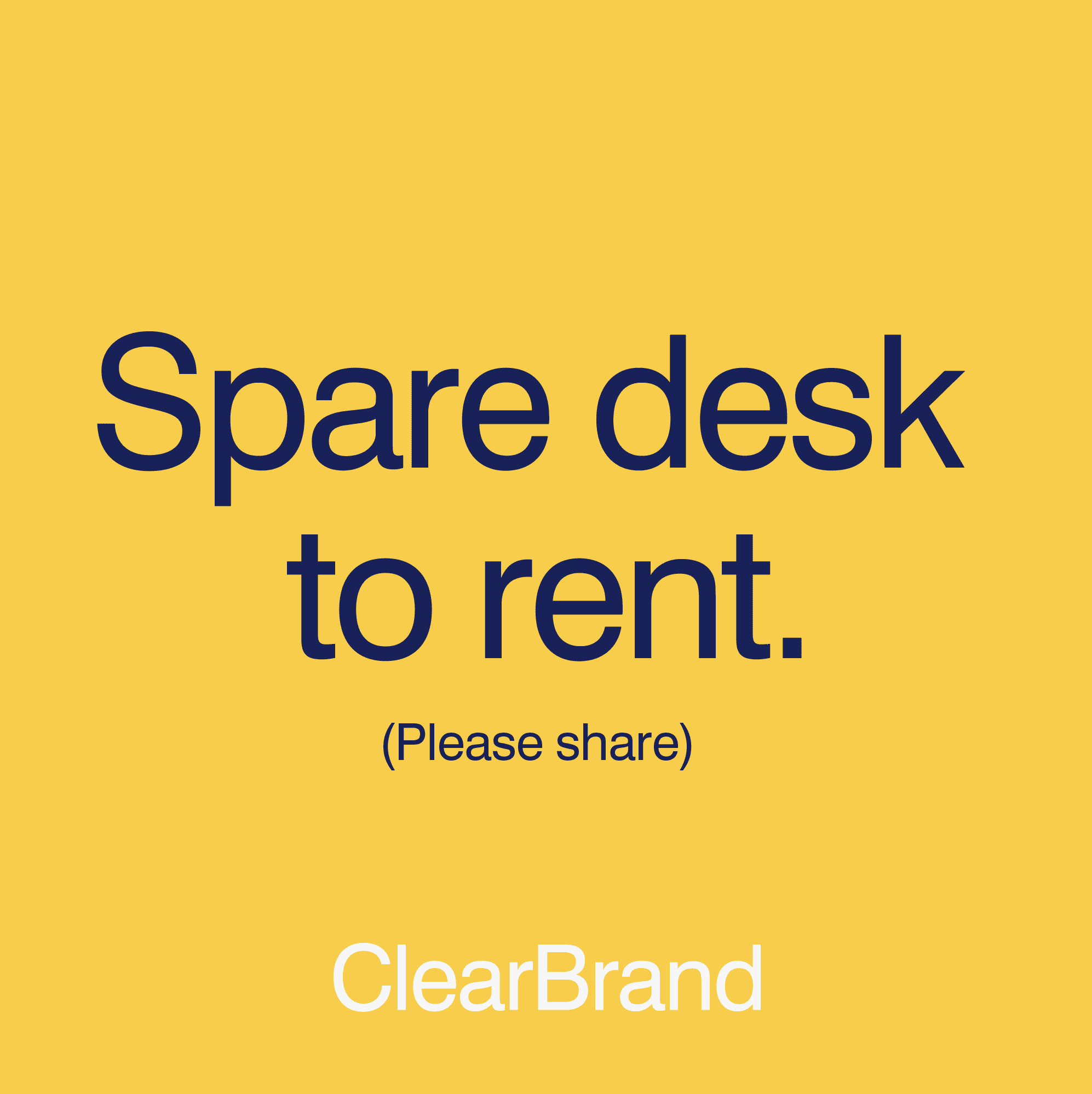 Spare Desk to Rent