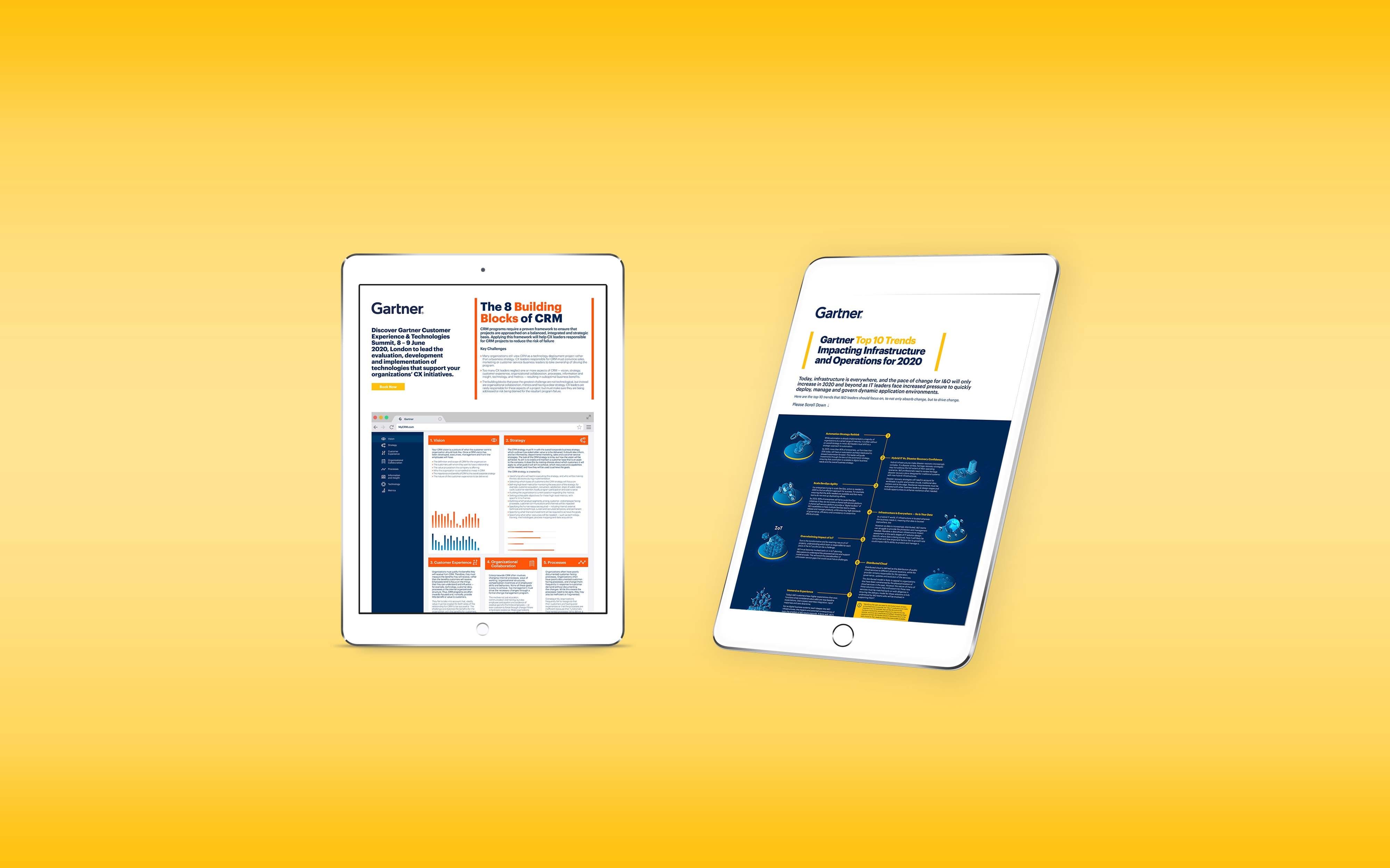 Gartner website tablet