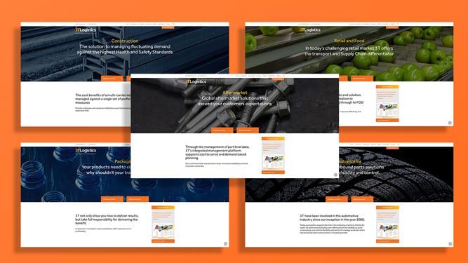 3T Logistics webpages