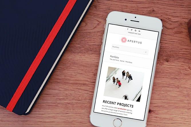 Apertus Website on mobile