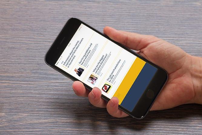 Alpha mobile website