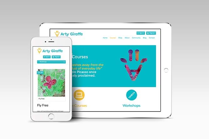 Artygiraffe mobile and Tablet website