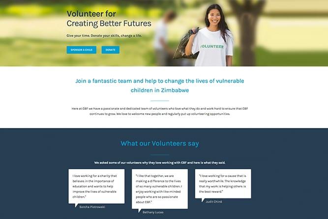 Creating Better Futures Website