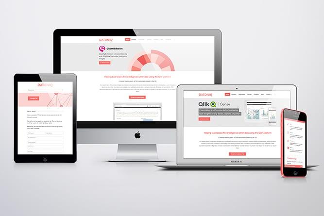 Datoniq Website on multiple devices