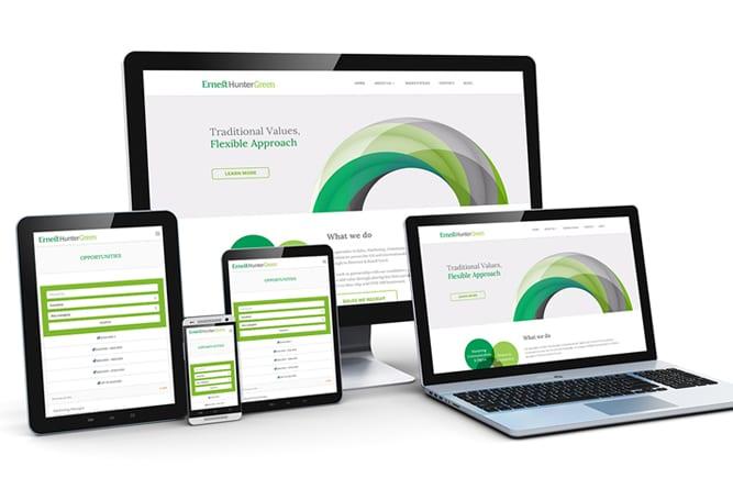 Ernest Hunter Green Website on different devices
