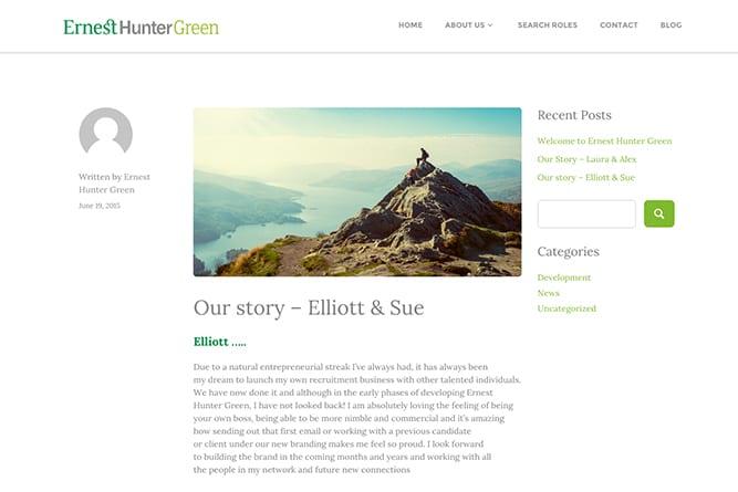 Ernest Hunter Green Website