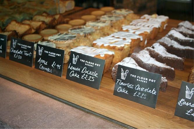 The Flour Pot cake labels