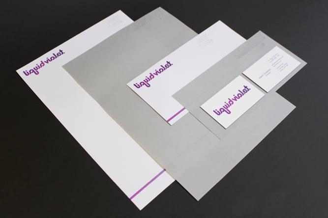 Liquid Violet stationery design