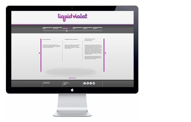 Liquid Violet website