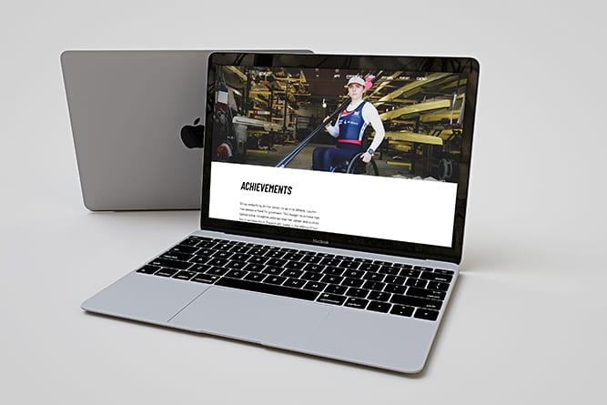 Lauren Rowles website open on Mac