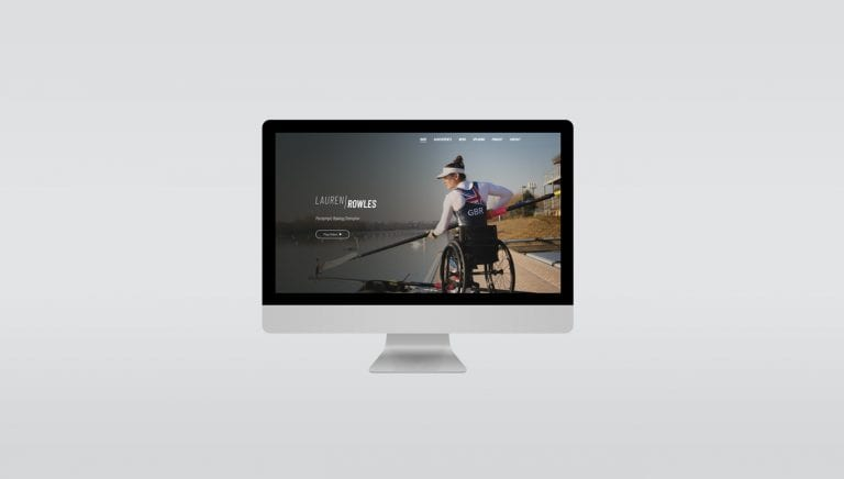 Lauren Rowles website on computer