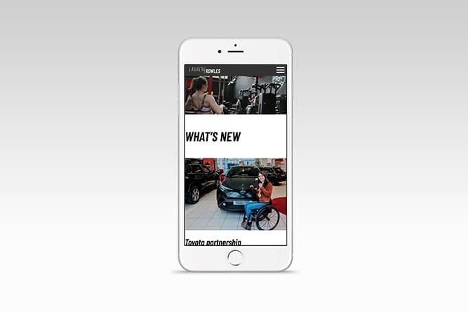 Lauren Rowles iPhone website