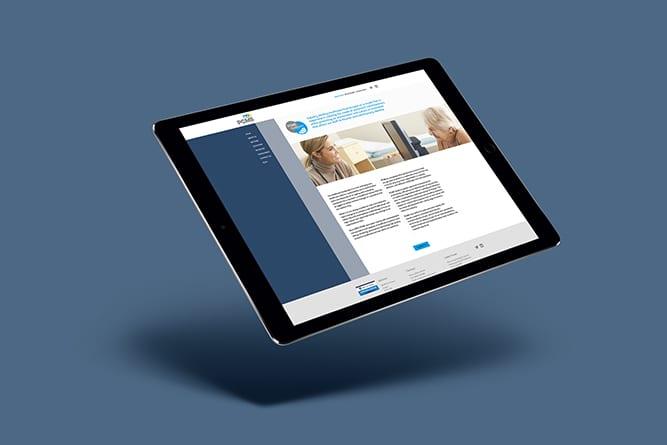 PCMS Website tablet